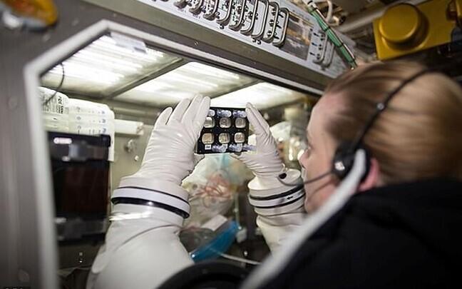 Astronaut Kate Rubins uurib ISS-i pardal südamerakke.