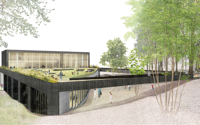 Эскиз новой школы по интересам, которую вскоре построят в Виймси.