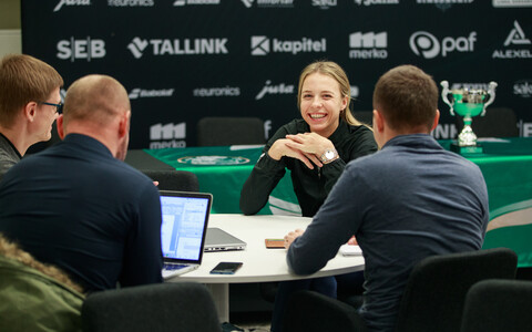 Press conference with Estonia's top women's and men's tennis players, Anett Kontaveit and Jürgen Zopp.