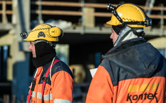 Construction workers working for an Estonian company.