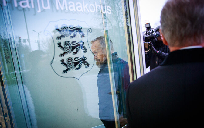 Mati Alaver  at Harju County Court on Thursday.