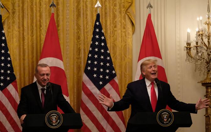 Erdogan ja Trump ühisel pressikonverentsil.