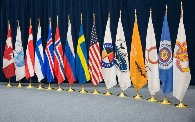 Arctic Council flags.