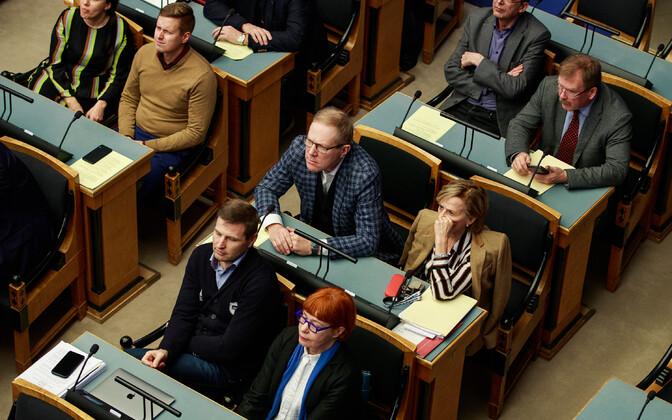 Reformierakonna fraktsioon: Heidy Purga, Erkki Keldo, Heiki Kranich, Johannes Kert, Marko Mihkelson, Urve Tiidus, Hanno Pevkur ja Signe Kivi