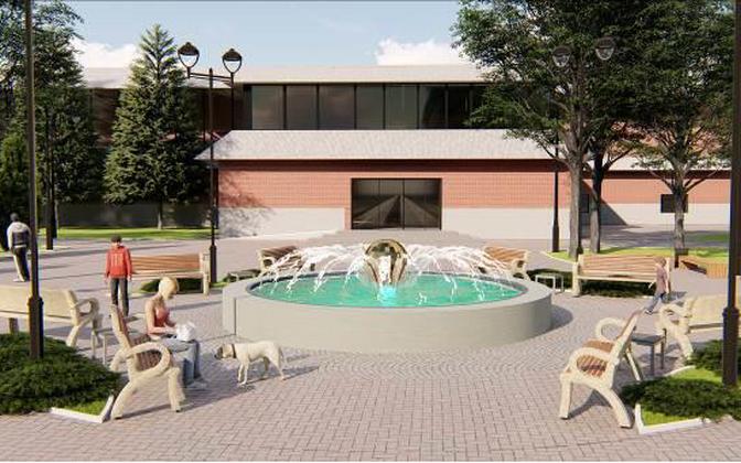Так будет выглядеть фонтан в центре Силламяэ.