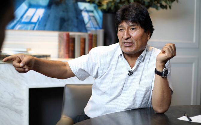 Evo Morales Mehhikos.