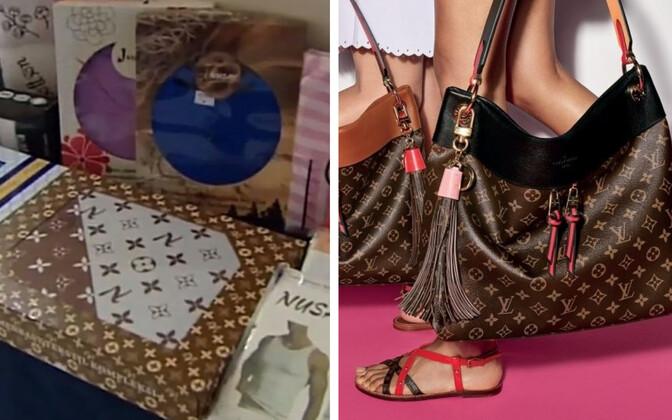 Nusay toodang ja Louis Vuittoni muster.