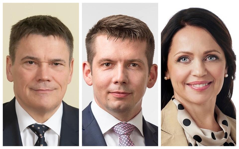 Алар Ланеман, Мартин Репинский и Аннели Отть.
