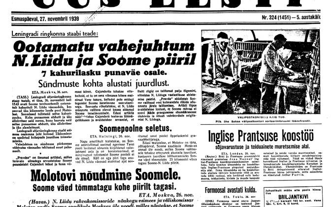 Uus Eesti 27.11.1939