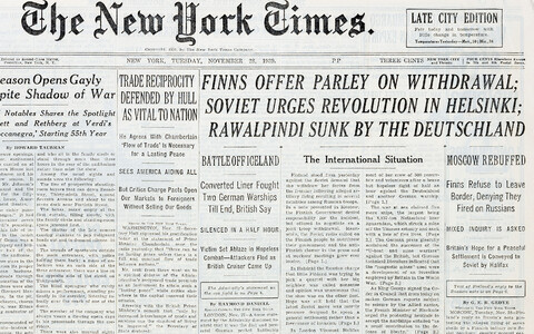 The New York Times 28.11.1939