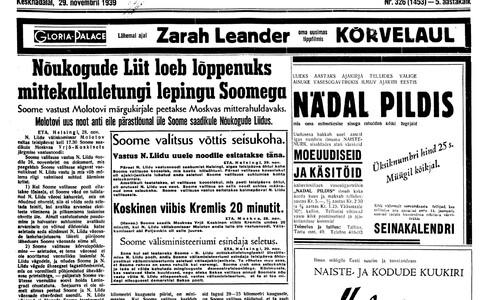 Uus Eesti 29.11.1939