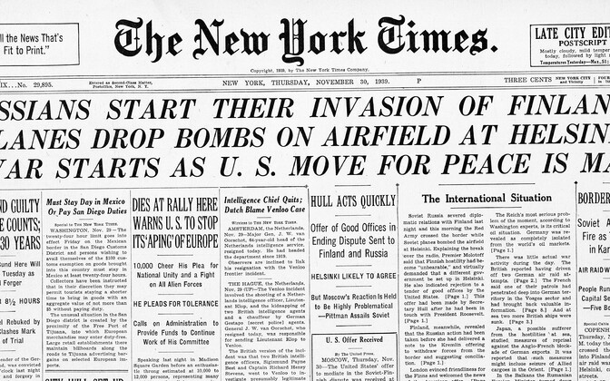 The New York Times 30.11.1939