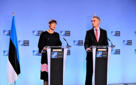 Президент Кальюлайд встретилась в Брюсселе с генсеком НАТО Йенсом Столтенбергом.