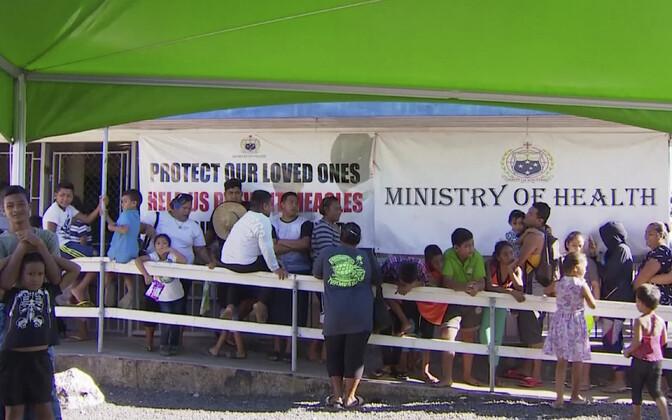 Vakstineerimissaba Samoal 2019. aasta novembris.