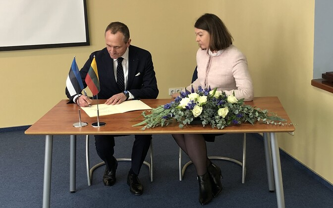 Estonia opened a consulate in Klaipeda, Lithuania on Monday. Nov. 18, 2019.