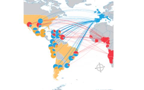 Kontinentidevaheliste ajalooliste rännete panus Põhja- ja Lõuna-Ameerika geenitiiki.