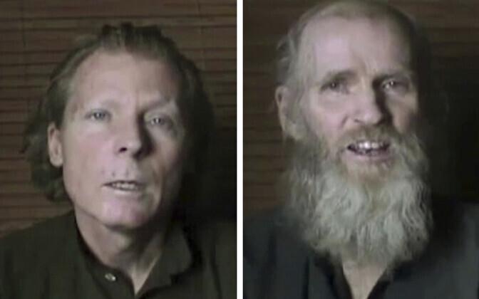 Weekes (vasakul) ja King 2016. aasta pantvangivideos.