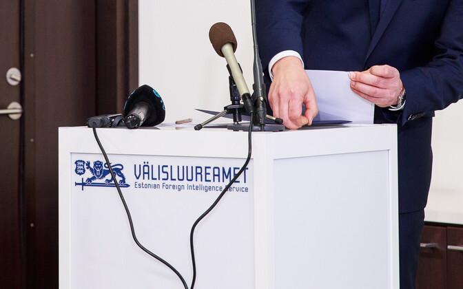 Estonian Foreign Intelligence Service logo.