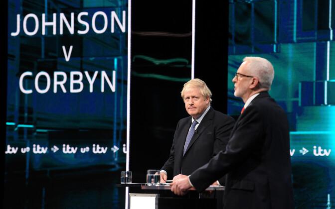 Boris Johnsoni ja Jeremy Corbyni teledebatt