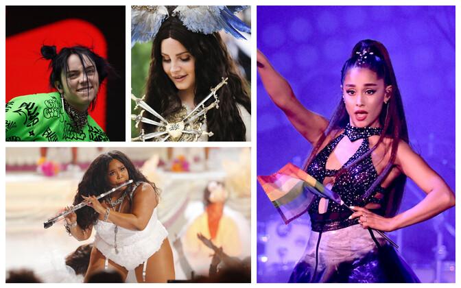 Billie Eilish, Lizzo, Lana Del Ray, Ariana Grande