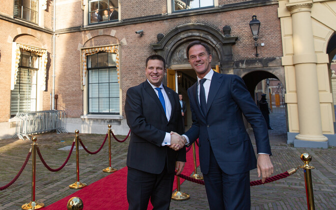 Prime Minister Jüri Ratas and Dutch Prime Minister Mark Rutte.