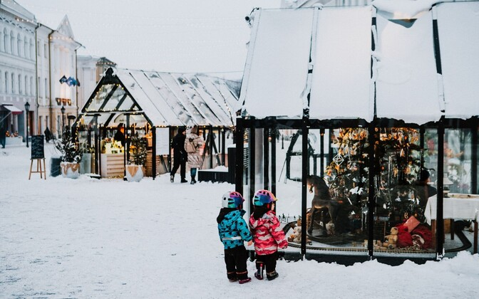 Tartu's Christmas Village in 2018.