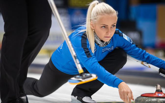 Estonian women's curling team captain Marie Turmann.