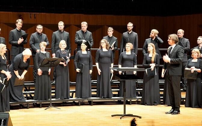 Arvo Pärdi muusika jõudis Lõuna-Koreasse. Pildil Eesti Filharmoonia Kammerkoor.