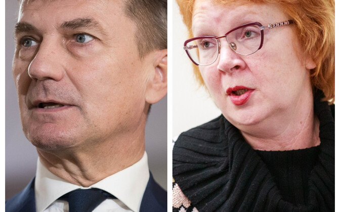 Andrus Ansip and Yana Toom