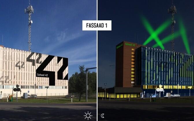 Эскиз здания школы для программистов в Йыхви.