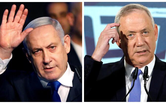 Benjamin Netanyahu ja Benny Gantz.