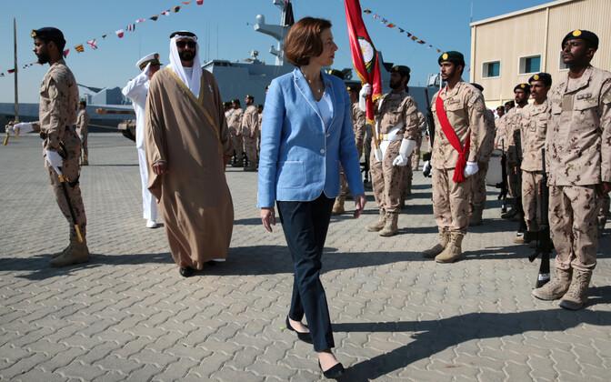 Prantsuse kaitseminister Florence Parly Araabia Ühendemiraatides.