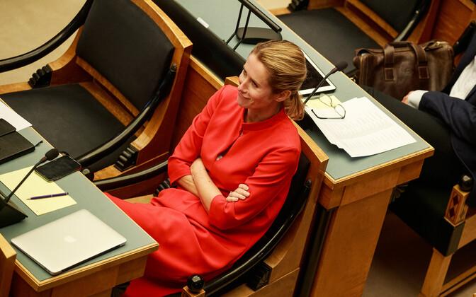 Кая Каллас осудила решение об увольнении канцлера Леметти.