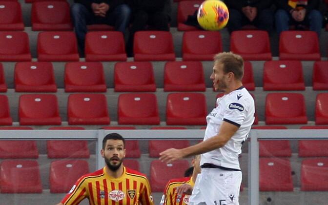 Ragnar Klavan mängus Lecce vastu