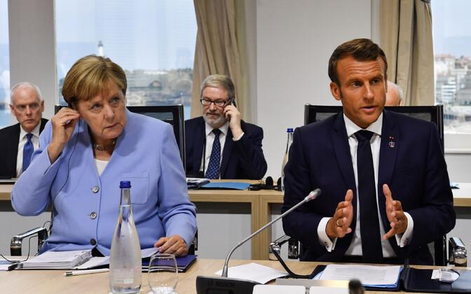 Merkel ja Macron.
