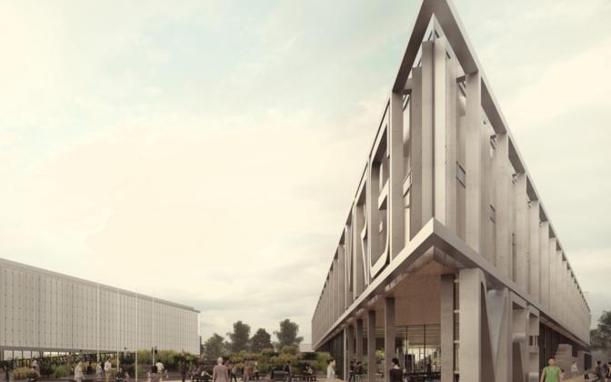 Mustamäe riigigümnaasiumi arhitektuurikonkursi võidtöö Kuppelmaastik