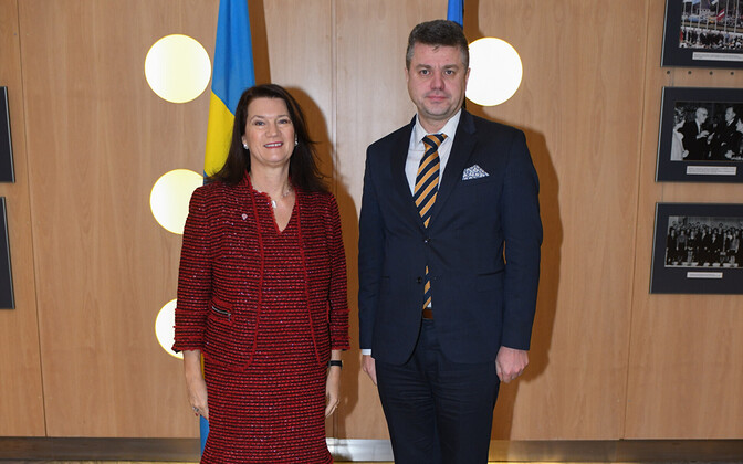 Swedish Minister for Foreign Affairs Ann Linde and Minister of Foreign Affairs Urmas Reinsalu (Isamaa) in Tallinn. Nov. 26, 2019.