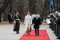 Ukrainian President Volodymyr Zelensky and President Kersti Kaljulaid at Kadriorg.