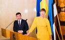 President Kersti Kaljulaid with Ukrainian counterpart Volodymyr Zelensky during the latter's visit to Estonia in November.