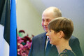 Президент Украины Владимир Зеленский на торжественном ужине в театре