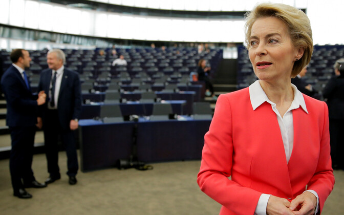 Ursula von der Leyen europarlamendis Strasbourg'is 27. novembril.