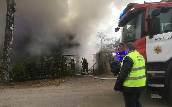 Пожар в Йыхви.