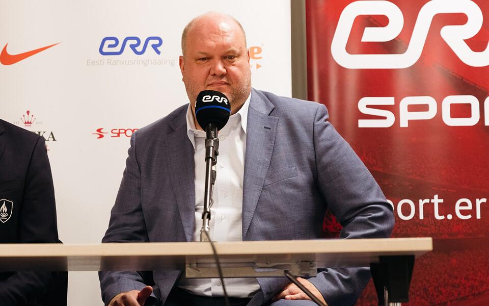 Erich Teigamägi TV 10 Olümpiastarti 49. hooaja esitlusel