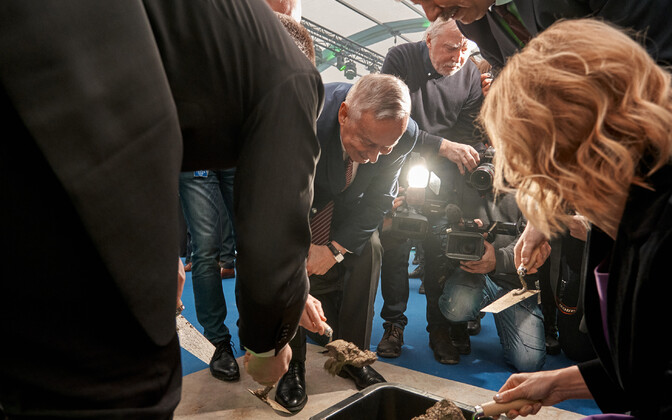 The cornerstone of Rail Baltic is laid.