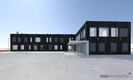 Эскиз архитектурного бюро Kuu Arhitektid будущего здания для полиции и спасателей в Силламяэ.