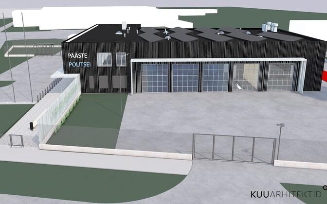 Kuu Arhitektide eskiis Sillamäe politsei ja pääste ühishoonest.