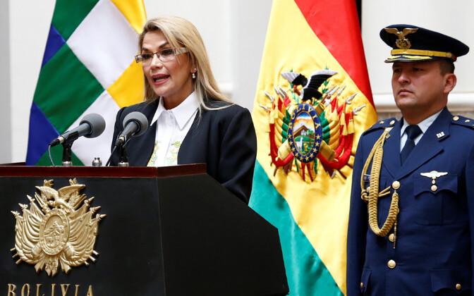 Boliivia ajutine president Jeanine Anez.