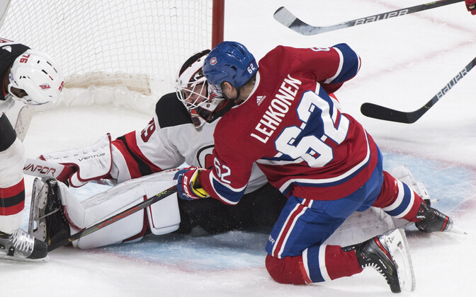 Artturi Lehkonen viskas Canadiensi kaotusmängus ühe värava