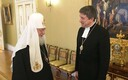Archbishop Urmas Viilma meeting head of the Russian Orthodox Church Patriarch Kirill in Moscow.