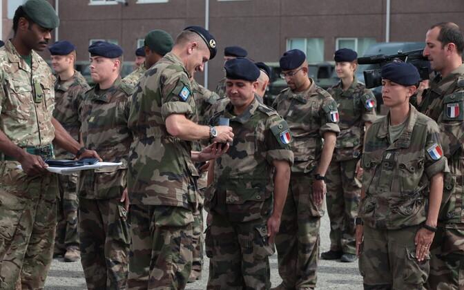 Prantsuse sõjaväelased Tapal.